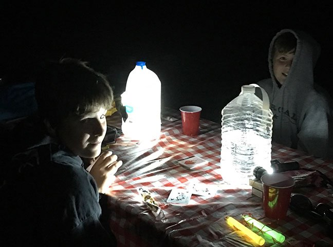 Headlamp and Water Jug Trick