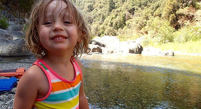 Happy Toddler Camping