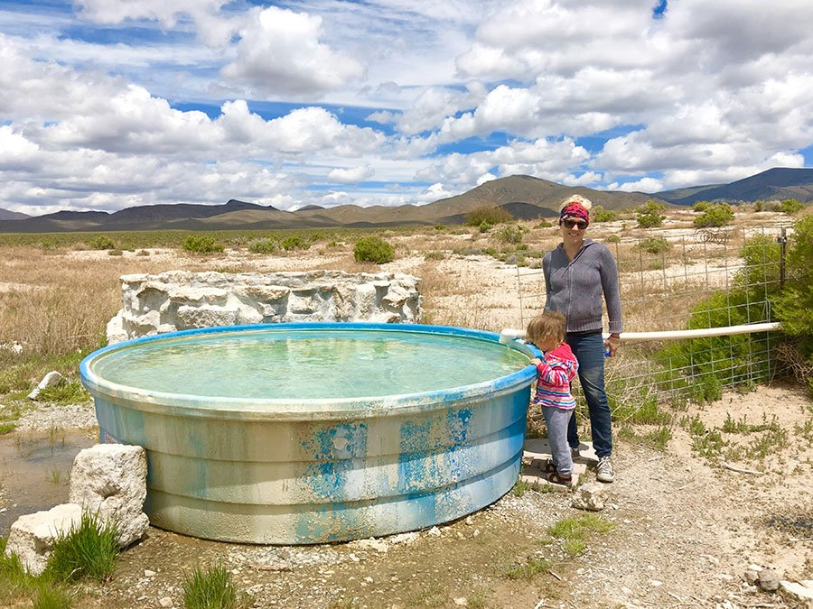 Ellen & Willow at Nelson Hot Springs