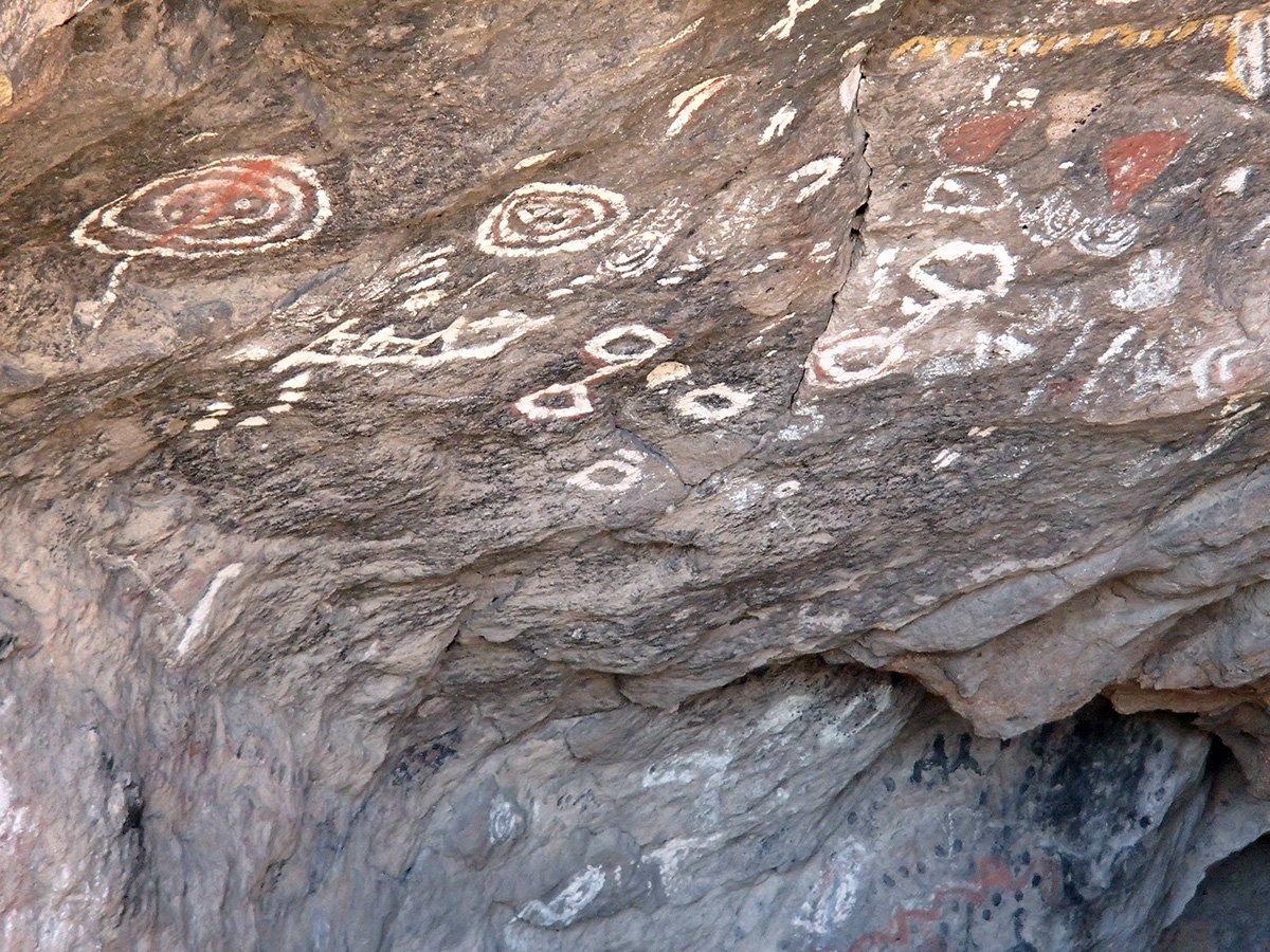 Pictographs at Toquima Cave