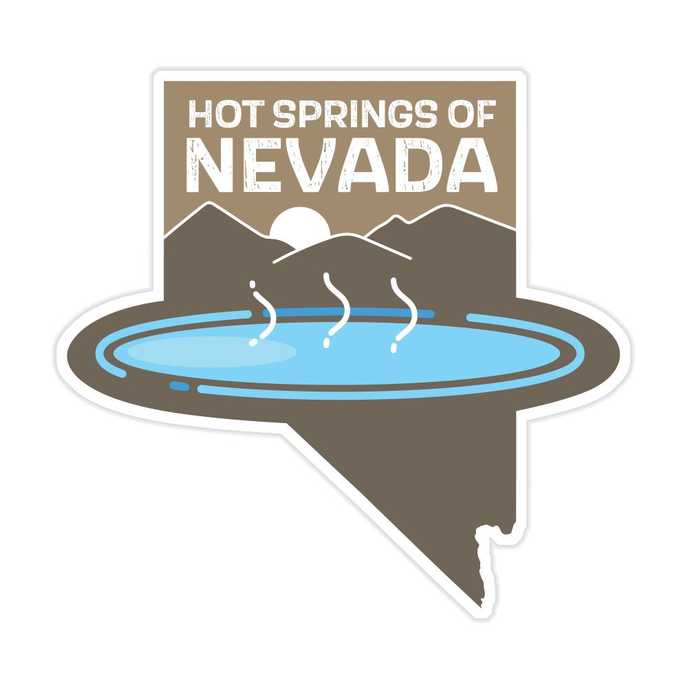 Hot Springs of Nevada Vinyl Sticker
